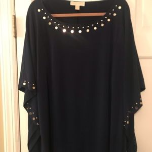 Michael Kora Navy Tunic with bold accents